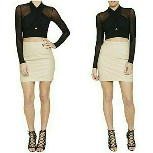 Bardot Faux Leather Mini Skirt